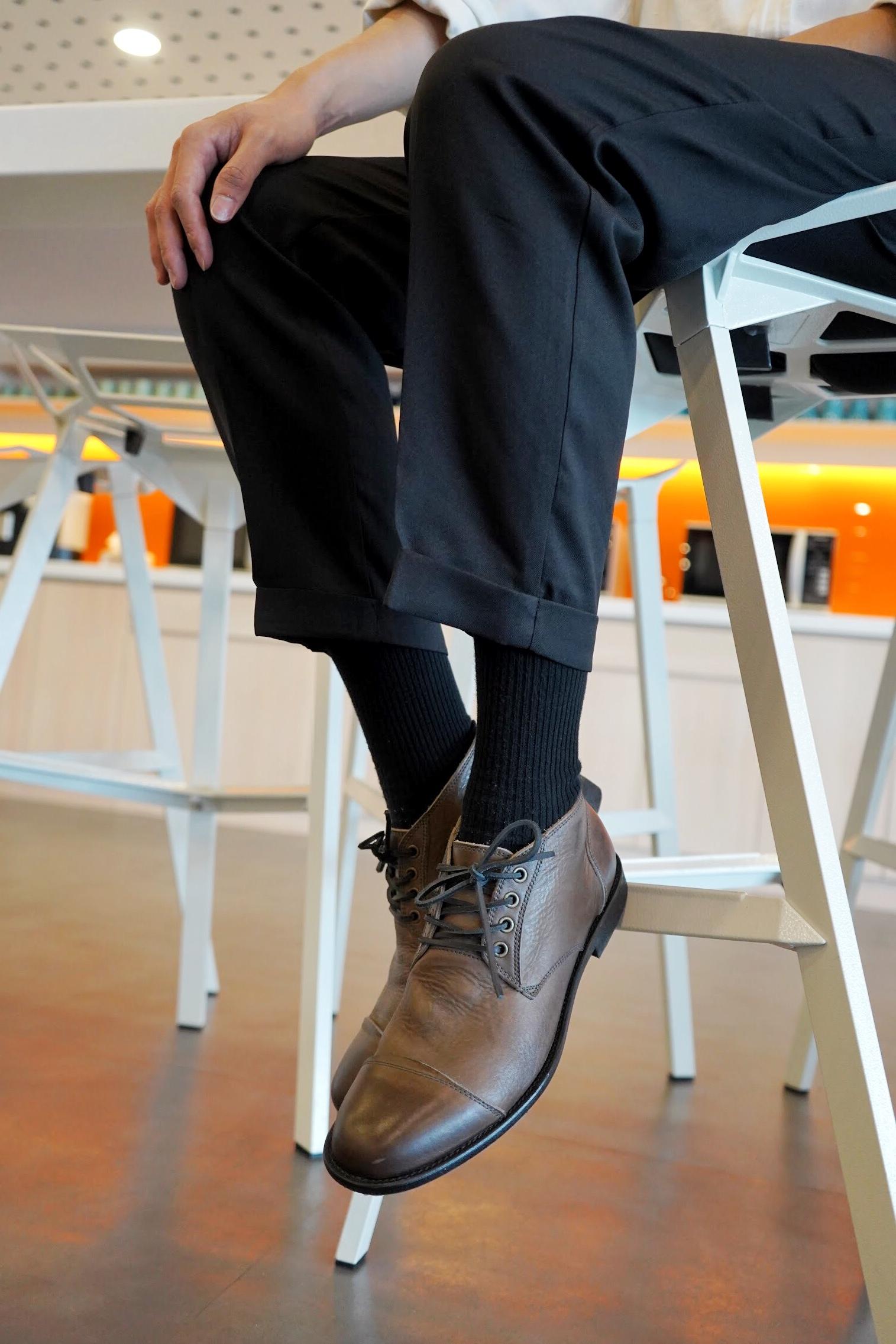 ARGIS日本製中筒德比皮鞋