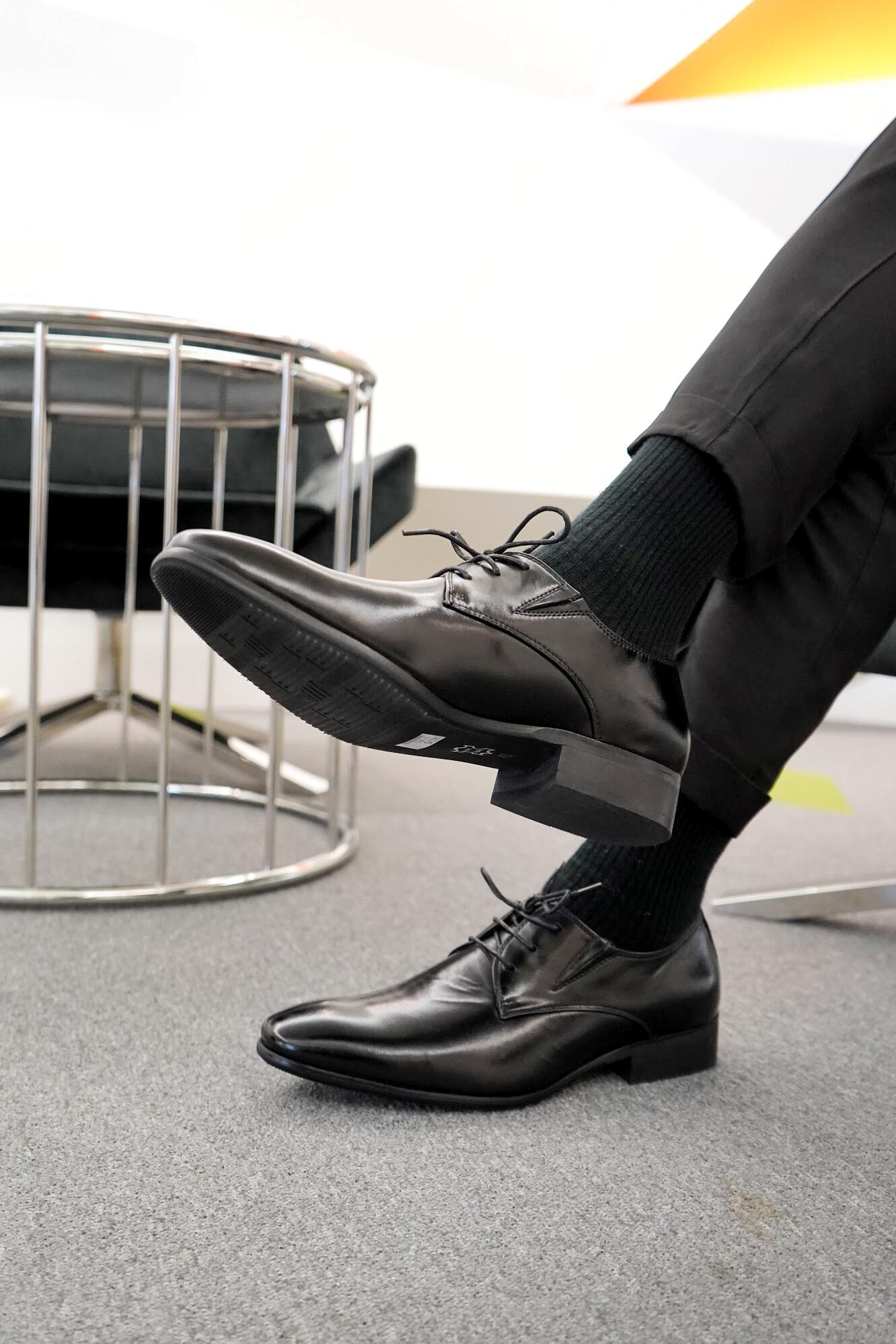 W&M擦色工藝真皮男皮鞋