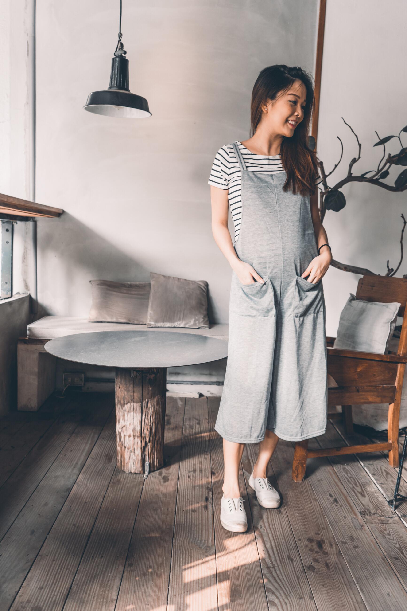 孕婦吊帶褲