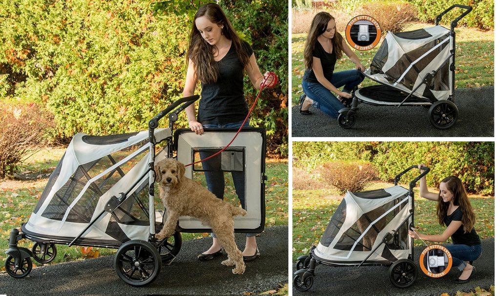 Pet Gear羅密歐敞篷無拉鍊寵物推車