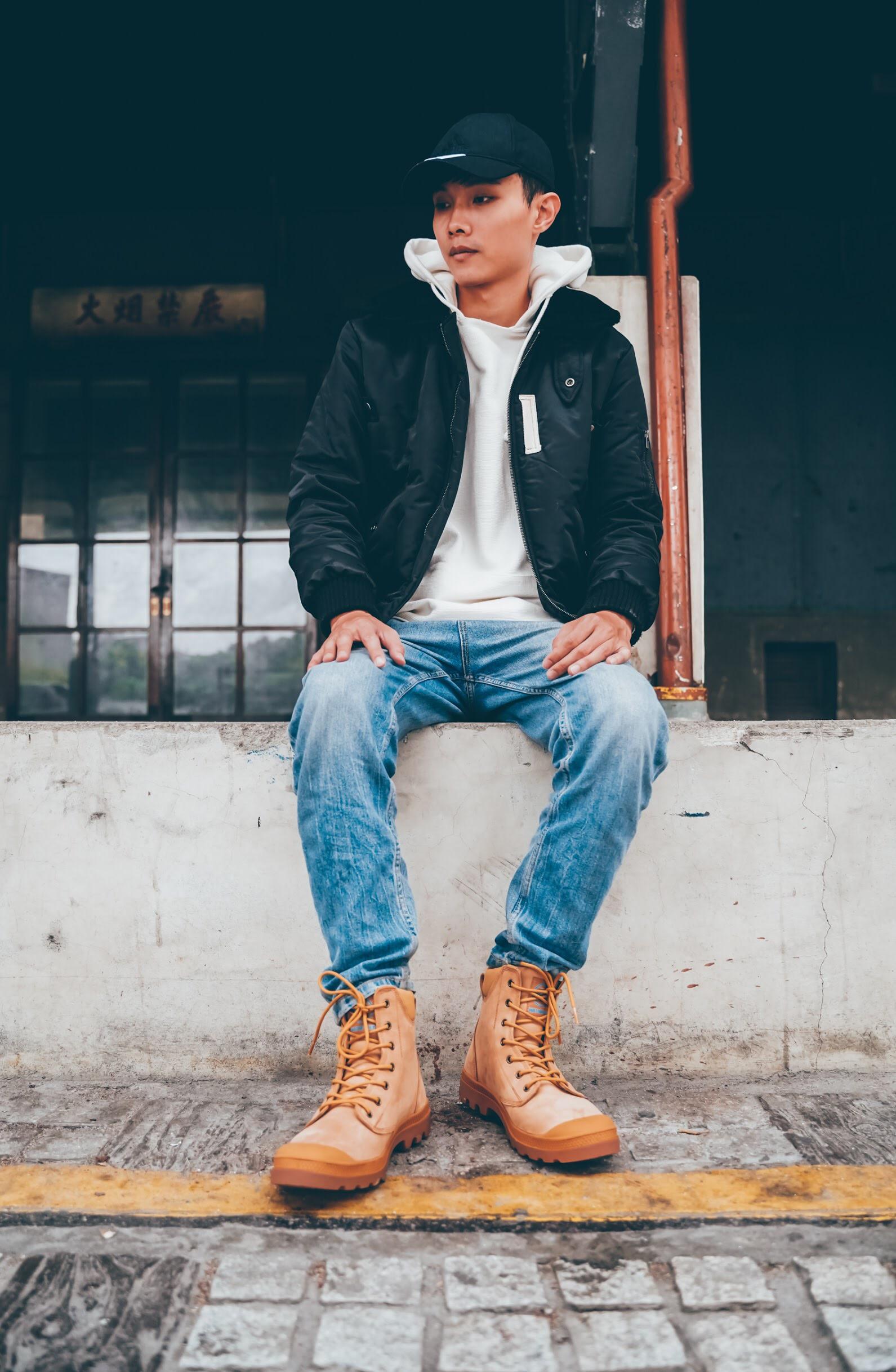 男生 軍靴