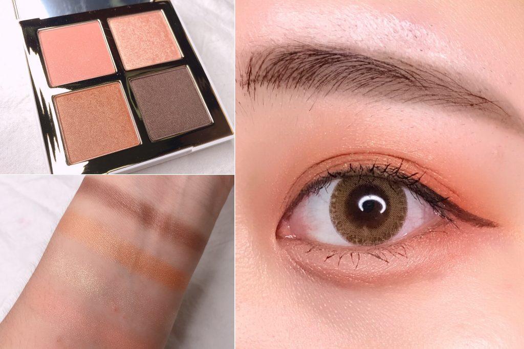 PONY 珊瑚橘眼影盤 橘色系眼影 珊瑚橘眼影試色