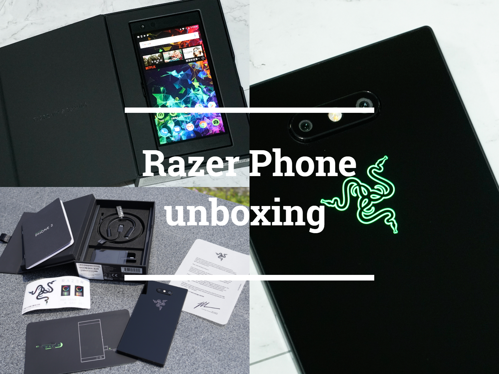Razer Phone2 開箱|電競手機推薦!最適合手遊的手機,設計、規格、功能詳細開箱介紹!