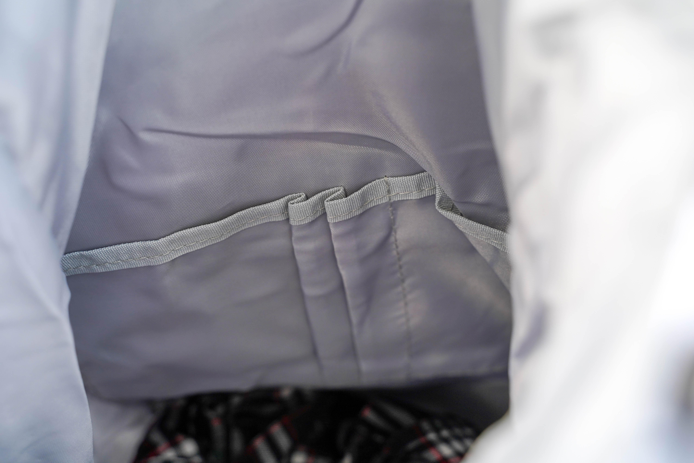 旅行收納防水大容量後背包-白雪藍葉