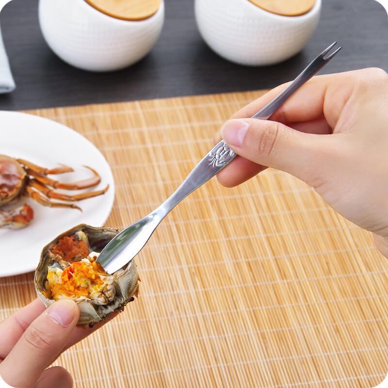 吃螃蟹湯匙