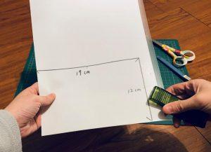 口罩暫存夾DIY-4-把A4紙和L夾重疊