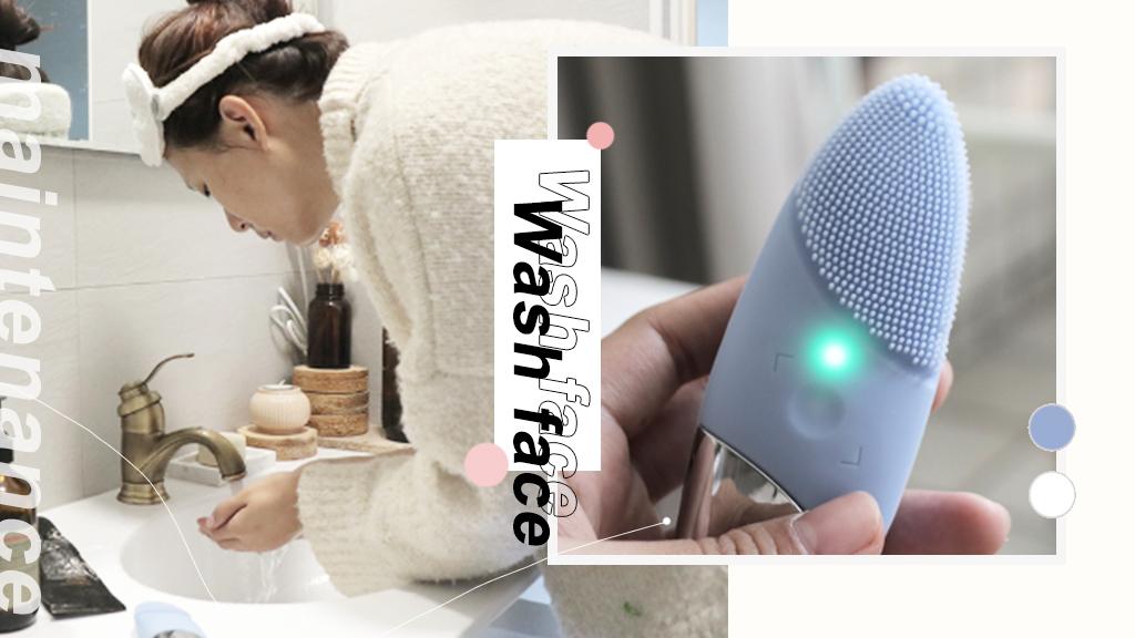 洗臉機推薦|Sampo 聲寶潔面儀開箱,卸妝洗臉導入拉提4效合一!
