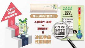 買冷氣機要找有CSPF標章