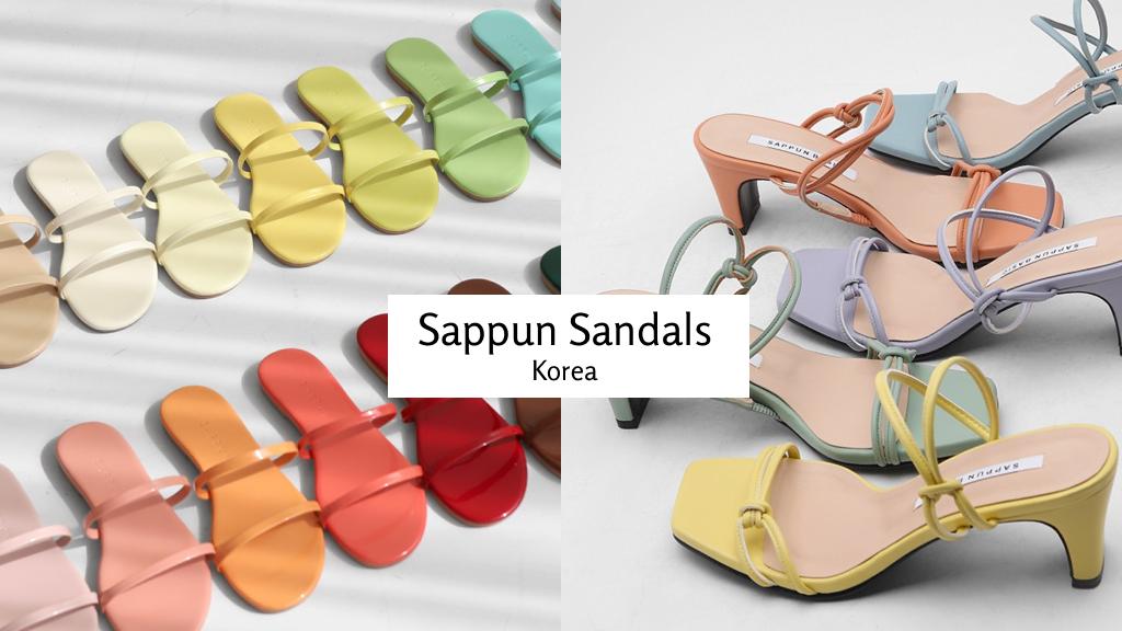 韓國女鞋品牌 Sappun 涼鞋推薦 | 怦然心動的夏天色彩涼鞋讓你天天好心情