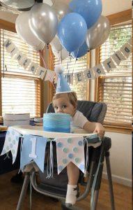 抓週派對佈置-嬰兒椅