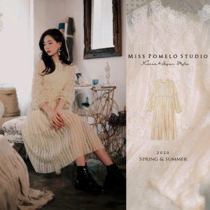 Miss Pomelo獨家訂製款古董蕾絲輕婚紗洋裝