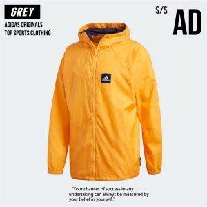 Adidas愛迪達 WND 黃色 風衣外套