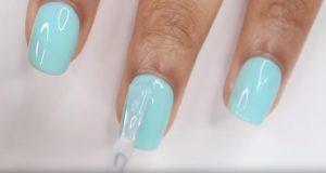 光療美甲DIY,怎麼自己做光療指甲-塗頂膠封層膠
