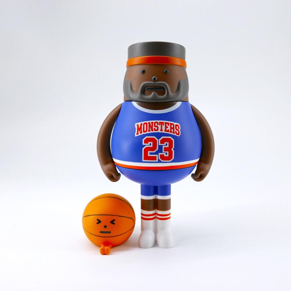SML SPORT 04 籃球公仔 藍 橘頭帶