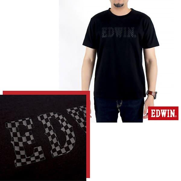 EDWIN 賽車格LOGO短袖T恤