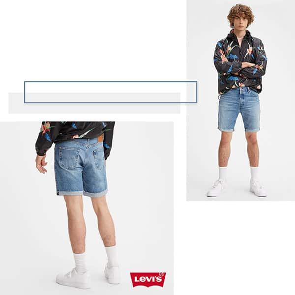 Levis 501 93 復古排釦直筒牛仔短褲